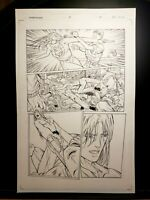 Darkminds Issue #5 Page 05 Original Art Work by Pat Lee Dreamwave Productions!