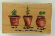 Every Cook's 'LIFE'S LITTLE NECESSITIES' Basil, Rosemary & Parsley Stamp NEW