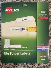Averyr White File Folder Labels 08593 23 X 3 716 Pack Of 150