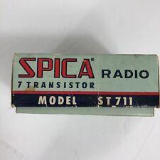 Vintage Micro 7 Transistor Spica Radio Check Details In Specifics Mo/ ST711 C514