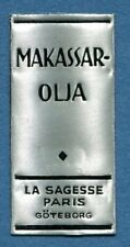 Advertisement Original Seal Label A41 Silver MNH Makassar Oil Goteborg Sweden
