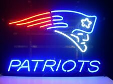 "New England Patriots Neon Lamp Sign 20""x16"" Bar Light Beer Glass Windows Display"