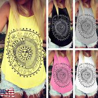 Women Loose Sleeveless Cotton Casual Blouse Shirt Tank Tops Summer T-shirt Vest
