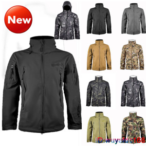 Hoodie Removable Waterproof Mens Jackets Tactical Fleece Lining Jacket Coats