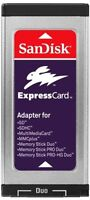 SanDisk ExpressCard Reader/Writer SD SDHC MS Memory Stick Duo MacBook Pro/PC NEW