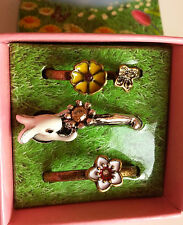 Spring Fling Stackable Rings Size 9 Bunny & Flowers FREE SHIPPING