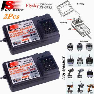 2Pcs FlySky FS-GR3E 3CH 2,4 Ghz Empfänger für FS-GT2 GT3 GT3B GR3C RC Car Boot