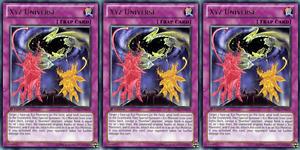 YUGIOH Card 3x Xyz Universe PRIO-EN078 Rare 1st Edition Playset