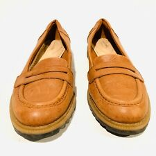 Clarks Somerset Brown Loafers Griffin Milly Leather Shoes Women SZ 6.5 M 15190