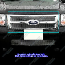 For 08-2012 Ford Escape Stainless Steel Micro-Frame X Mesh Grille Grill Insert