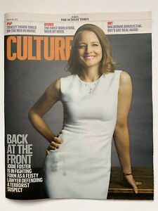 **JODIE FOSTER UK SUNDAY TIMES CULTURE MAGAZINE MARCH 2021**