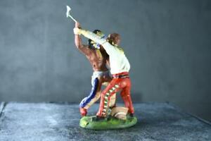 COMPOSITION PLASTINOL WW Wild West Indian Cowboy Wrestling Pair ~7cm N
