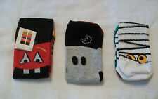 THREE (3) PAIRS LADIES / WOMANS / GIRLS MIXED MOTIF SOCKS SIZE 4-8 NEW