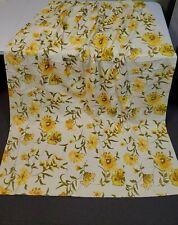 2 Vintage Retro Sears Perma Prest Curtains Pleated Panels Drapes Drapery Yellow