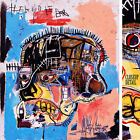 """32Wx38H"""" HEAD SKULL 1981 by JEAN-MICHEL BASQUIAT Small Repro - CHOICES of CANVAS"""