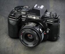 Minolta Maxxum 9000 35mm SLR with 2 lenses, flash 2nd auto Cannon camera