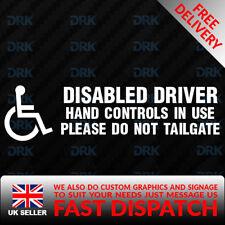 DISABLED Hand Control Blue Badge Car/Van/Truck/Bumper/Window Vinyl Sticker/Decal