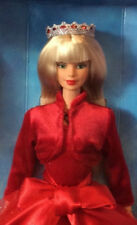 1995 Very Velvet Barbie Blonde in red dress doll NRFB Bob Mackie Face
