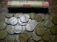 1910 LINCOLN WHEAT CENT ROLL, HISTORICAL 110 YEAR OLD PENNY, GREAT GIFT!