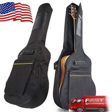 "NEW 41"" Dual Adjustable Shoulder Strap Acoustic Guitar Soft Case Cover Gig Bag"