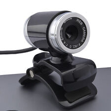 HD Camera Web Cam for Skype Computer PC Laptop MSN Webcams MIC Clip-on 360° USB