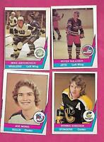 RARE 1977-78 OPC WHA PLAYERS CARD LOT   (INV# C5071)
