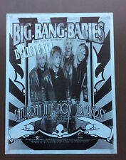 BIG BANG BABIES Vintage Flyer Ad For The Roxy Show Los Angeles 1990's Glam Rock