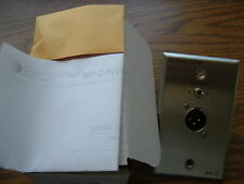 ClearCom Wp-2   2 Channel 3-pin XLR Connector Wall Plate Brand New..