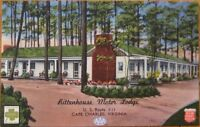 1940 Linen Postcard: 'Rittenhouse Motor Lodge/Motel' - Cape Charles, Virginia VA
