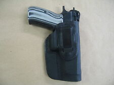 CZ-75 SP01 IWB Leather In Waistband Conceal Carry Holster BLACK