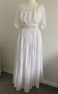 Georgian Chemise Dress Size 14-16 Jane Austen Poldark 18th Century Gown