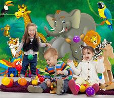 Giungla stanza dei bambini Fotomurale Parete Ragazzo Ragazza Decorazione Parete XXL immagine