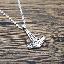 Thor's Hammer Necklace Viking Jewellery Rune Mjolnir Norse Mythology Thor