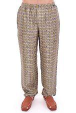 NWT $580 DOLCE & GABBANA Green SILK Pajama Lounge Pants Sleepwear IT6 / US L