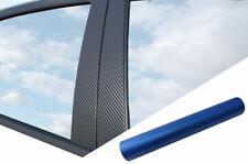 6x Premium a B C Columna Puerta Listones Película Auto Conjunto Azul Mate