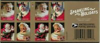 "5332-5, Sparkling Holidays ""Coke"" Santa's Pane of 20 Forever Stamps Stuart Katz"