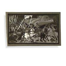 Copia originale senza cornice Battaglia San Romano in bianco e nero in miniatura Pittura A Guazzo dal