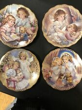 """Bradford plates. """"My Little Guardian"""" Series. 4 plates. Angels. With certificate"""
