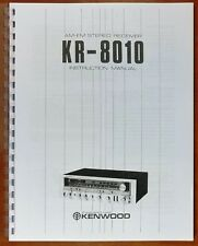 Kenwood KR-8010 Receiver Owners Manual