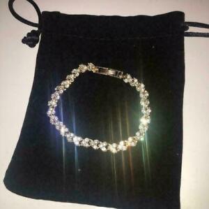 Womens Swarovski Element Crystal Bracelet Bangle Heart Rose Gold Plated New