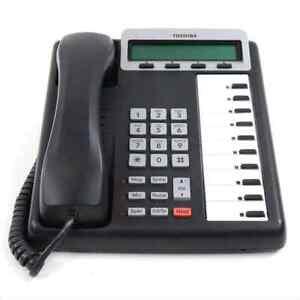 Toshiba Strata CIX 100 DKT 3210 SD 10 Button Display Speaker Telephone Charcoal