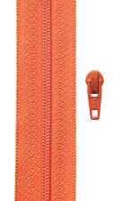 Gp 1,40 €/ m, 5 Meter Reißverschluss orange Spirale 3 mm + 10 Zipper YKK