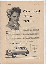 The Standard Vanguard Original Advertisement removed from a magazine