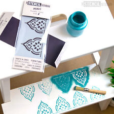 Taj Indian Border STENCIL MiNiS -Furniture, Craft, DIY, Cake The Stencil Studio