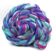 Lana Merino Misto Seta & Martin Pescatore 100g per la filatura a mano a maglia in fibra Roving