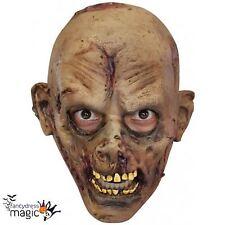 Boys Latex Zombie Walker Walking Halloween Horror Dead Fancy Dress Costume Mask