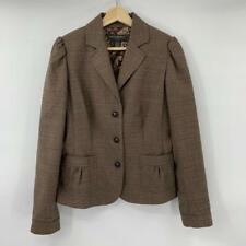 Banana Republic Blazer Suit Jacket Size 6 Brown Plaid Wool Darted N4