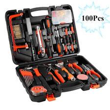 100PCS Household Tools Garden Home Tool Set Kit Box Repair Hard Case DIY WW
