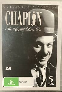 Chaplin The Legend Lives On Collectors Edition (R4 DVD 5-Disc) AS NEW FREE POST