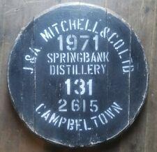Springbank Distillery,Single Malt Whisky Barrel Lid cask end , ready to hang